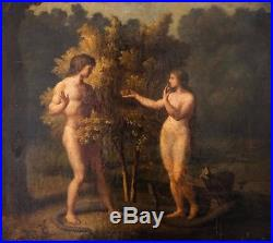 18th century school ADAM AND EVE OIL ON CANVAS