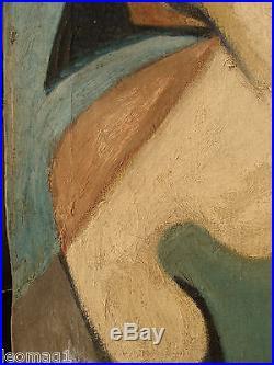 1946 Signe Delaviers Ou +très Intéressante Huile Sur Toile+style Moderne +++