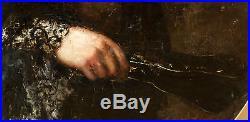 August Theodor Schoefft (budapest, 1809 1888) Huile Sur Toile. Portrait Dame