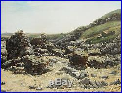 A. Adam D'apres Henri Saintin L'anse D'erquy Tableau Paysage Bretagne Marine Art