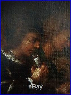 A expertiser ECOLE FLAMANDE du XVIIè. LE CONCERT. Grande huile sur toile