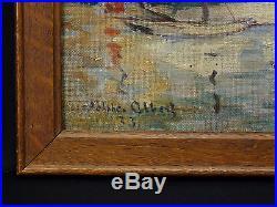 Adolphe ALBERT(1853-1938) Huile sur toile postimpressionniste datée 1933 Marine