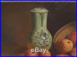 Adolphe Bonny 1849/1933 Ecole provençale Toulon huile/Toile Nature Morte 1913