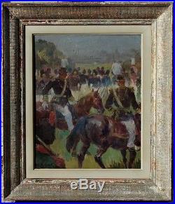 Albert Chavepeyer, 1950, Bénézit, Coté 1800! La Parade Militaire! Magnifique