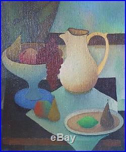 Albert LABACHOT (1915-1992) HsT Signée Années 60 Sixties Cubiste Cubist Kubist