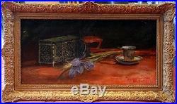 Alfred Bastien, 1900, Bénézit, Cote Enorme! Coffret à Bijoux, Tasse et Fleurs