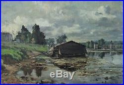 Alfred Renaudin (1866-1944), rivière en Lorraine 1889