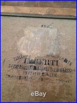 Ancien Tableau 19eme sur toile Signé