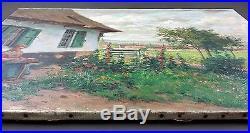 Ancien Tableau Albert Caullet (1875-1950) Peinture Huile Antique Oil Painting