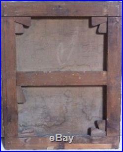 Ancien Tableau Peinture Huile Sur Toile Signer 18/19Ème