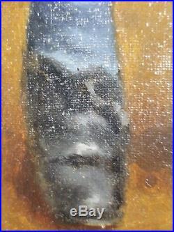 Ancien Tableau Portrait d'Enfant Peinture Huile Antique Oil Painting