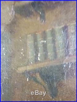 Ancien Tableau Sainte Thérèse d'Avila Peinture Huile Antique Oil Painting