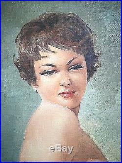 Ancien tableau Nu féminin la pose signé Le Gardien élève Jean Gabriel Domergue