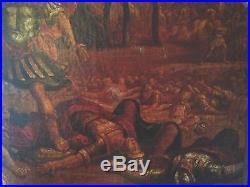 Ancienne huile sur toile XVIIème provenance vente château Sanson philistins