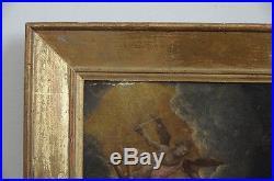Ancienne peinture huile sur toile XVII école italienne