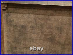 Ancienne peinture orientaliste, huile sur toile avec son cadre en bois doré