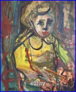 André BLONDEL (1909-1949). Portrait d'enfant Huile sur toile. V323