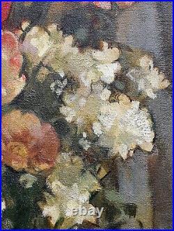 André CHARIGNY, bouquet de fleurs, tulipes, comtois, Besançon, tableau