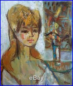 André LIBION (1924-1993) HsT Années 50 Fauvisme Ne Ecole de Paris Jeune Peinture