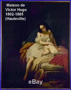 At. Von Steuben 1788-1856. Grande & Magnifique Toile. Esmeralda & Sa Chevre