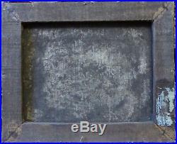 Auteur à identifier, tableau XIXe, vue du Bosphore, à restaurer, huile sur toile