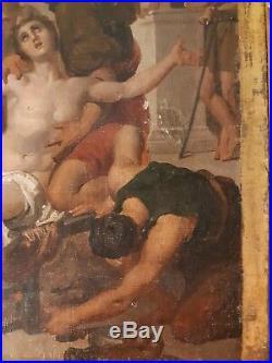 Authentique Huile Sur Toile 18e Siecle Ecole De Tiepolo De Venise, Scene Antique