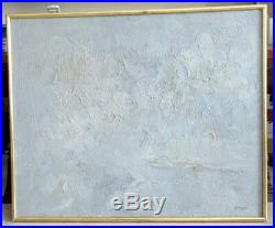 Avant la neige, huile sur toile d'Arthur VAN HECKE