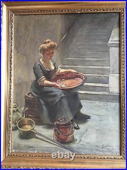 BARTHALOT Marius Né En 1861 Huile Sur Toile Portrait De Femme 1905