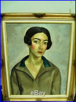 BERTHOMME ST-ANDRE(1905-1977) Femme d'Alger Huile ancienne sur toile 1927