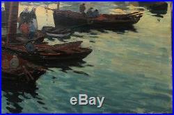 Beau port de pêche en Bretagne début XXè
