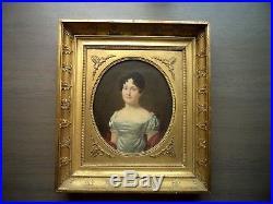 Beau portrait Empire d'une Comtesse par Antoine BOREL (1777-1838) Qualité Musée