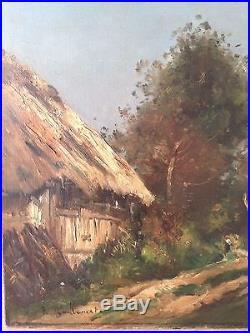 Belle Huile sur toile de Jean-Baptiste Antoine GUILLEMET(1843-1918)