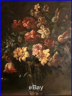Bouquet de fleurs. HST, école française XIXe dans le goût de Juan De Arellano