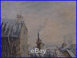 Boutique brocanteur Saint Ouen. Grand tableau de Raymond BESSE (1888-1969)