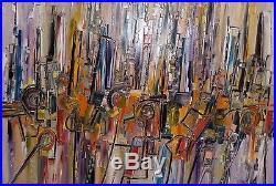 Bruno Cantais New York Bd Town Tableau Huile 100x150 CM Artiste Cote