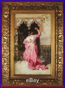 Casto Plasencia Y Maestro Peintre Espagnol Tableau Andalouse Pintura Andalucia