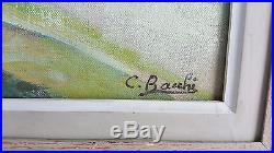 Cesare BACCHI Huile Sur Toile HST XXe NU a la MARE Tableau Peinture signe ART