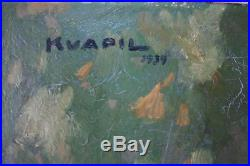 Charles Kvapil Grande huile sur toile de 1939 cadre montparnasse