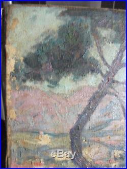 Charles WEISSER (1864-1940) Vue de Menton Grand Tableau Impressionniste 1920