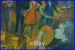 Charmant Tableau ancien Danseurs Cabaret Cocktail soirée 1950 st Lucien Genin