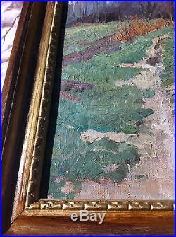 Constantin Kluge huile sur toile 61cm par 50cm TBE