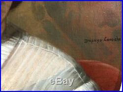 Dupuys-Laroche, Ecole française XIXe, portrait jeune femme en médaillon Huile