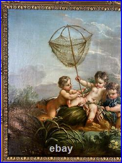 ECOLE FRANÇAISE DE XVIIIe D'APRES FRANÇOIS BOUCHER (1703 1770) LES PECHEURS