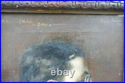 EDMOND SUAU (1871-1929) Portrait d'homme de profil 1912 huile sur toile