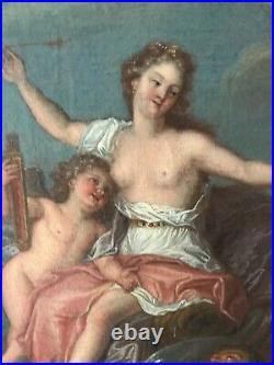 Ec. Française XVIIIe Huile sur toile entourage Antoine Coypel Naissance de Venus