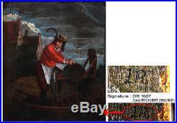 Ecole Flamande du début du 17ème, Signé monogramme David I RICKAERT 1560/1607