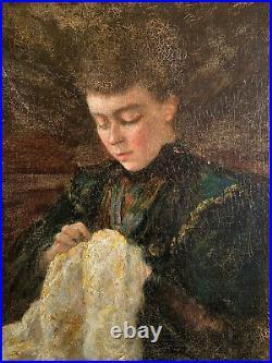 École Française du XIXe Huile sur toile Proche Edouard Vuillard