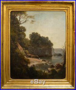 Ecole Toulonnaise 1850 Les Rochers de Sainte Marguerite Toulon Courdouan Var