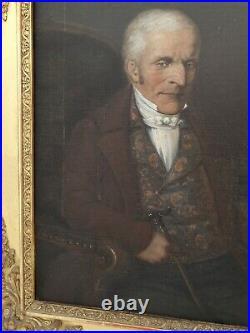 Ecole française du XIX ème s, portrait d'homme huile sur toile