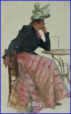 Elégante accoudée, Henri Darien (1864-1925)